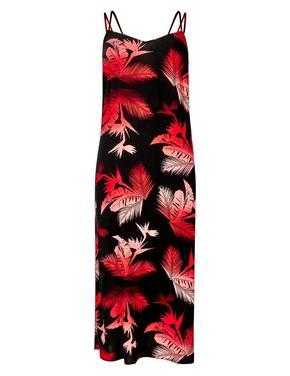 Kırmızı Ombre Plaj Elbisesi