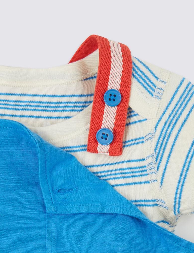 Mavi 2'li T-shirt ve Tulum Seti