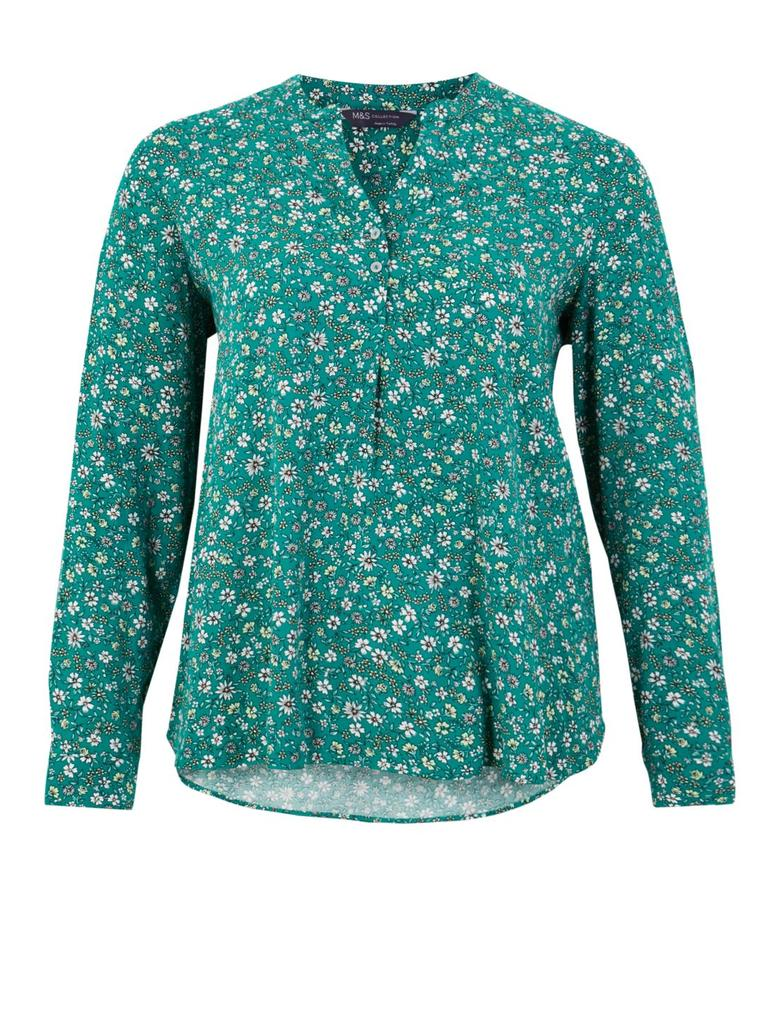 CURVE Çiçek Desenli Bluz