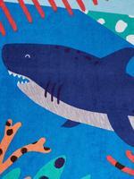 Mavi Köpekbalıklı  Çocuk Plaj Havlusu