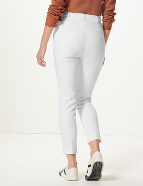 Jakarlı Slim Kısa Pantolon