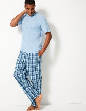 Kareli Pijama Takımı