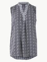 Kadın Koyu lacivert Kolsuz Bluz
