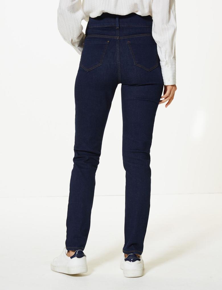 Lacivert Sculpt & Slim Skinny Jean Pantolon