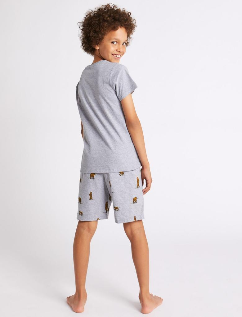 Baskılı Şortlu Pijama Takımı