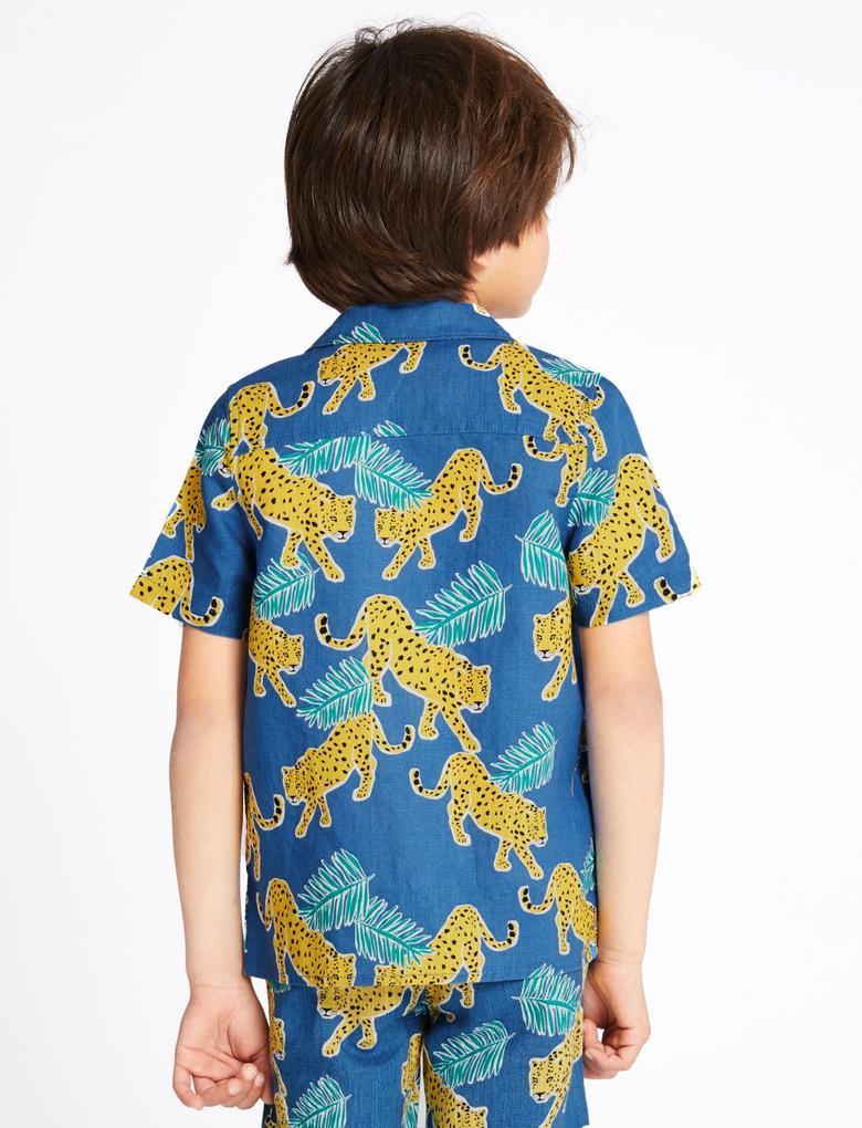 Leopar Baskılı Gömlek