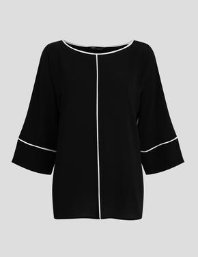 Siyah Kimono Bluz