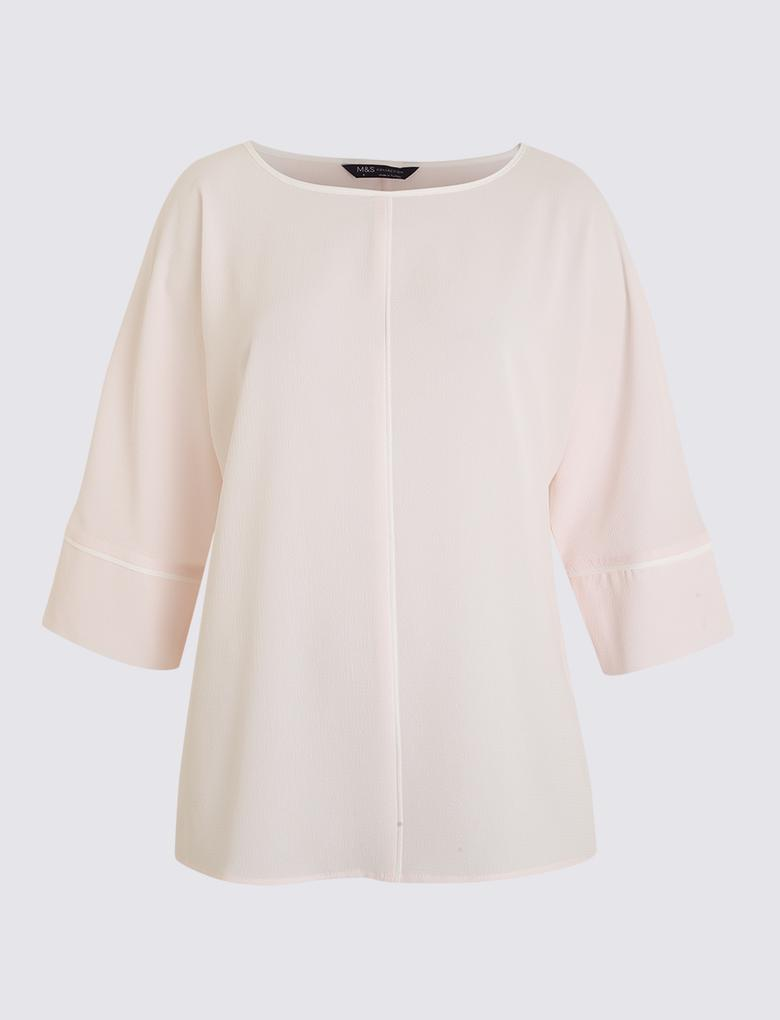 Kadın Pembe Kimono Bluz
