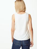 Dantel Detaylı Kolsuz Bluz