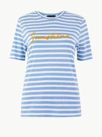 Kadın Sarı Saf Pamuklu T-Shirt