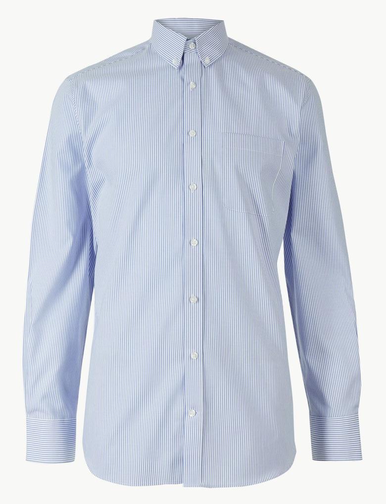 Saf Pamuklu Tailored Fit Oxford Gömlek