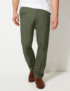 Erkek Yeşil Stormwear™ Saf Pamuklu Chino Pantolon