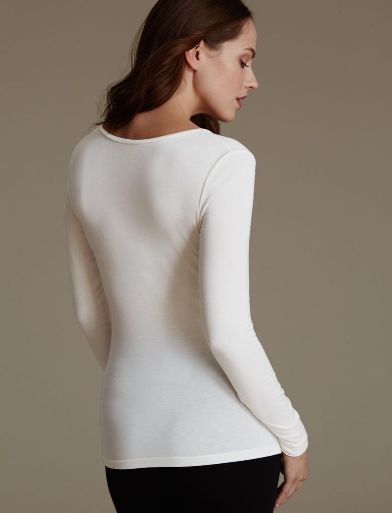 Kadın Bej Heatgen™ Uzun Kollu Termal Body