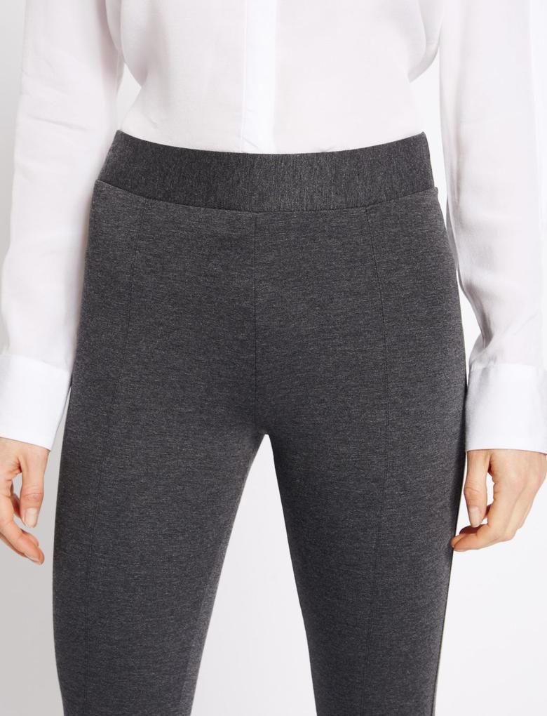 Gri Pull On Skinny Tregging Pantolon