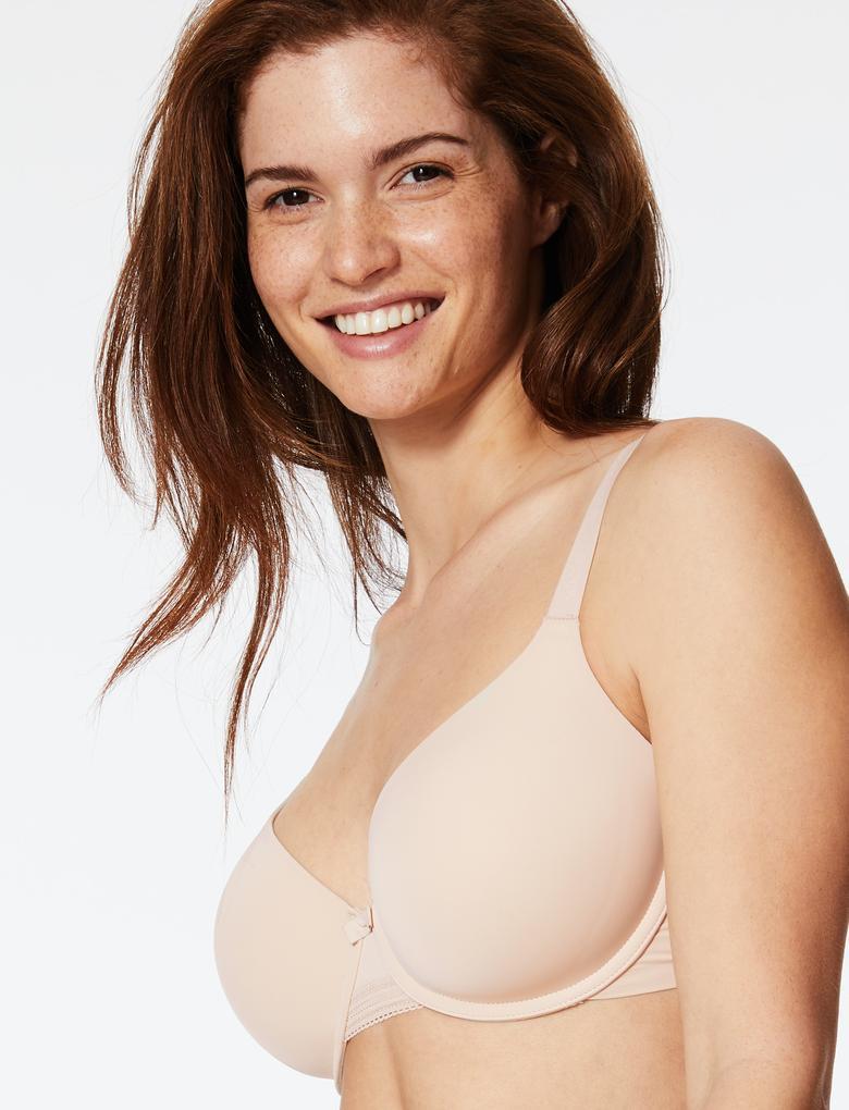 Kadın Bej Destekli Full Cup T-shirt Sütyeni