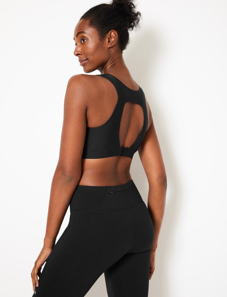 Kadın Siyah Smoothlines™ Sporcu Sütyeni