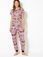 Pamuklu Fil Desenli Pijama Takımı