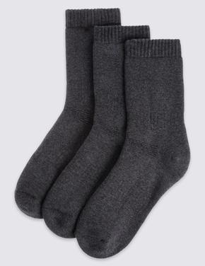 Gri 3'lü Pamuklu Freshfeet™ Termal Çorap (3 - 16 Yaş)