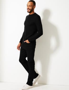 Siyah Regular Fit Streç Jean Pantolon (Stormwear™ Teknolojisi ile)