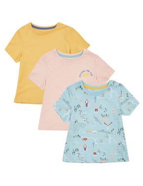 Kız Çocuk Multi Renk 3'lü Baskılı T-Shirt