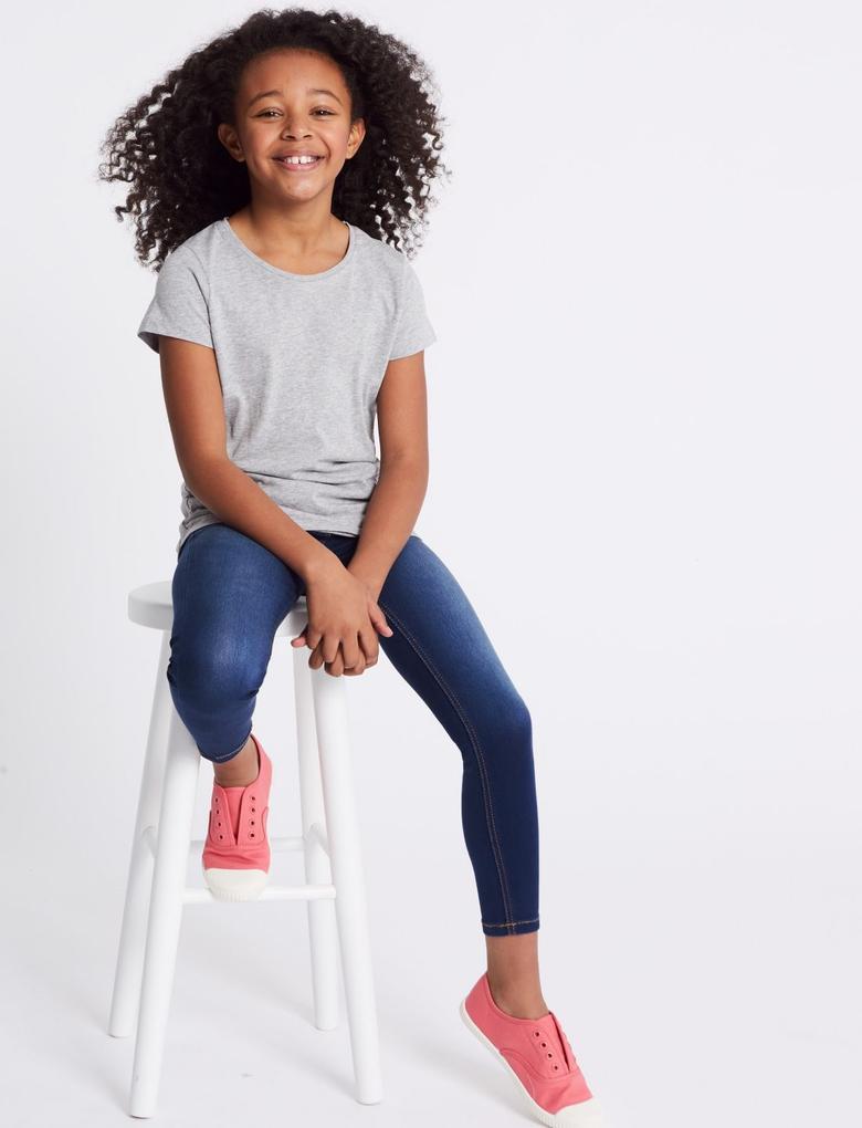 Kız Çocuk Mavi Super Skinny Jean Pantolon