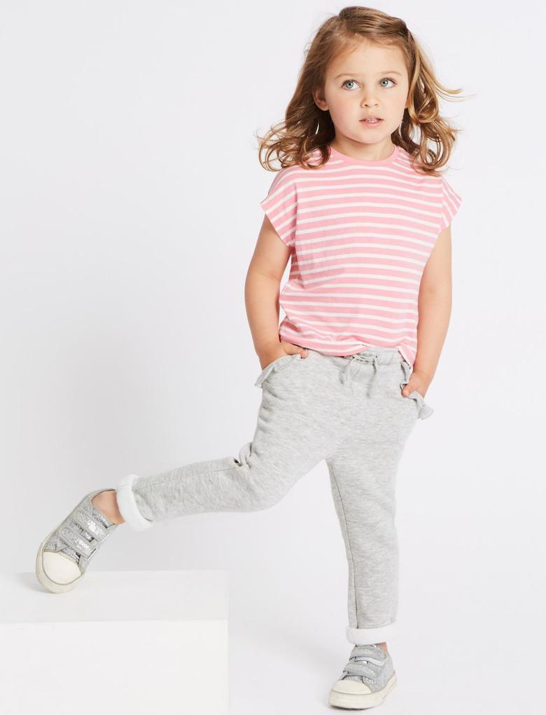 Kız Çocuk Multi Renk 2'li Pamuklu Tayt Seti
