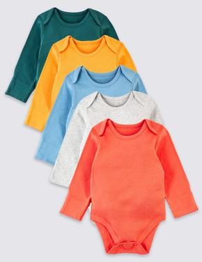 Bebek Multi Renk 5'li Organik Pamuk Body Seti
