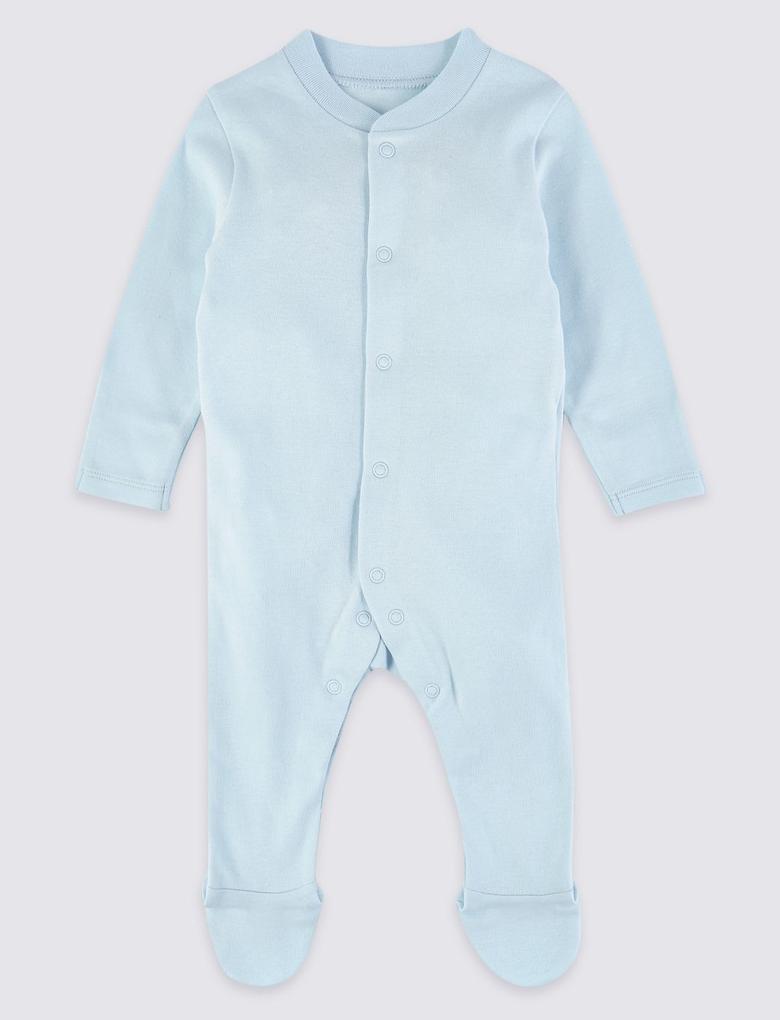 Bebek Multi Renk 5 Parça Saf Pamuklu Tulum ve Bere Seti