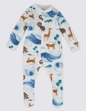 Bebek Multi Renk 3'lü Saf Pamuklu Pijama Seti