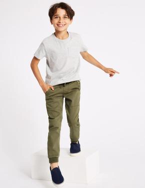 Erkek Çocuk Yeşil Jarse Kargo Pantolon
