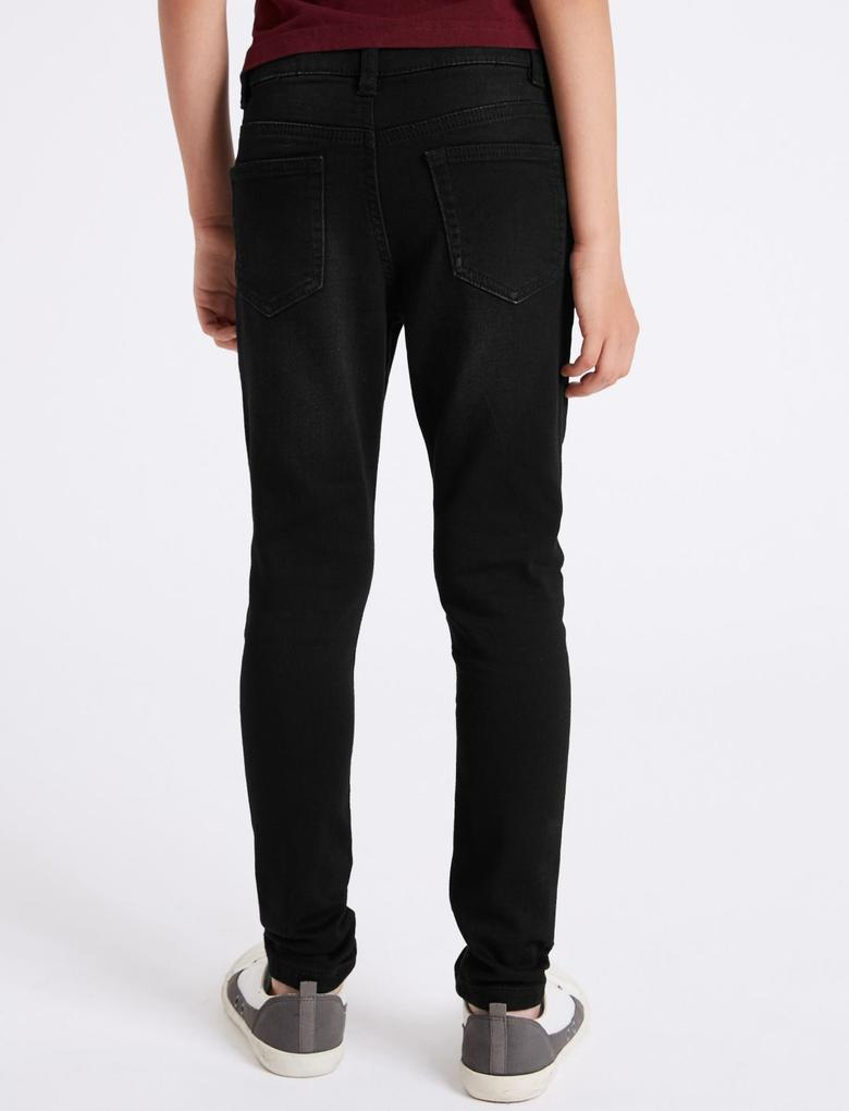 Erkek Çocuk Siyah Skinny Fit Jean Pantolon