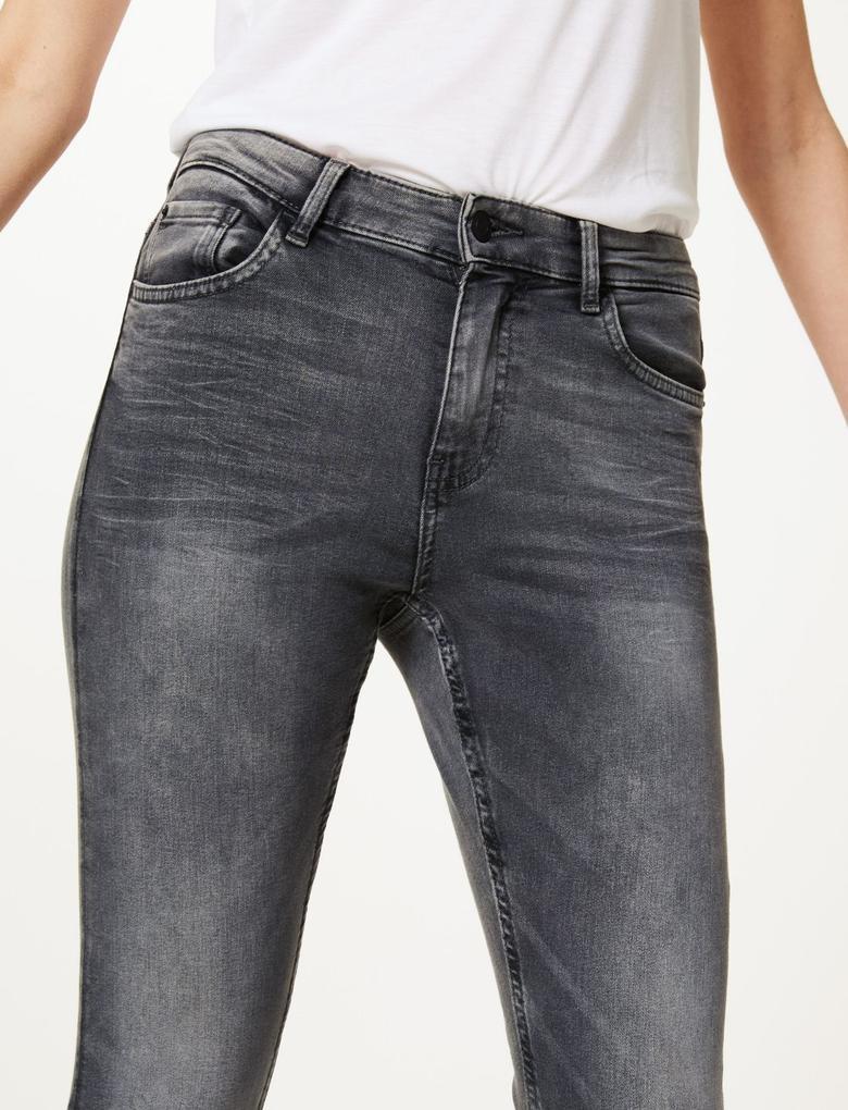 Gri Skinny Leg Jean Pantolon