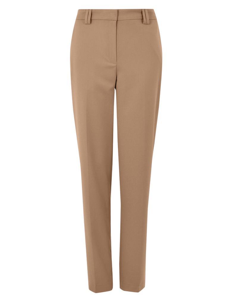 Kadın Kahverengi Relaxed Straight Leg Pantolon