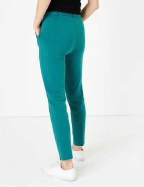 Yan Şerit Detaylı Ponte Slim Leg Pantolon