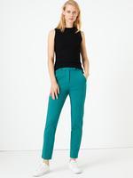 Kadın Yeşil Yan Şerit Detaylı Ponte Slim Leg Pantolon