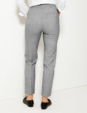 Kadın Gri Slim Leg Ankle Pantolon