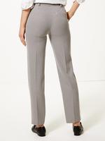 Kareli Straight Fit Pantolon