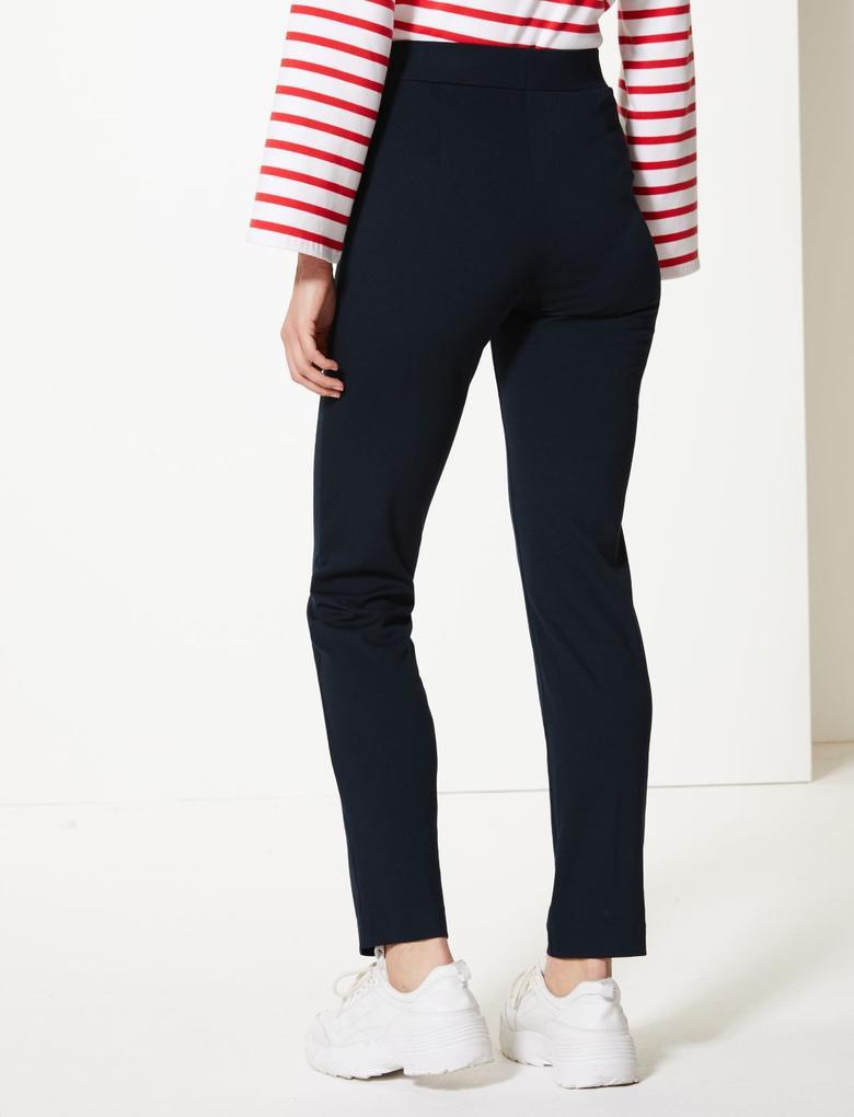 Kadın Lacivert Slim Leg Pantolon