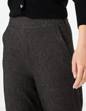 Yüksek Belli Wide Leg Pantolon