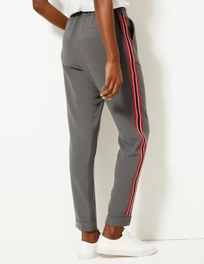 Yanları Çizgili Tapered Leg Pantolon