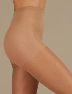Kadın Kahverengi 15 Denye Medium Destekli Külotlu Çorap