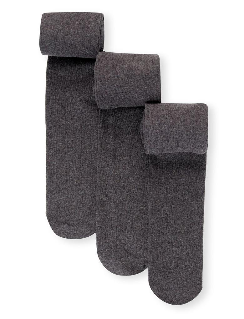Kız Çocuk Gri 3'lü Freshfeet™ Pamuklu Body Sensor™ Okul Külotlu Çorabı (4 - 14 Yaş)