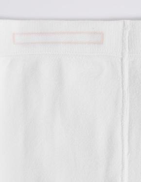 Kız Çocuk Beyaz 3'lü Freshfeet™ Pamuklu Body Sensor™ Okul Külotlu Çorabı (3 - 14 Yaş)