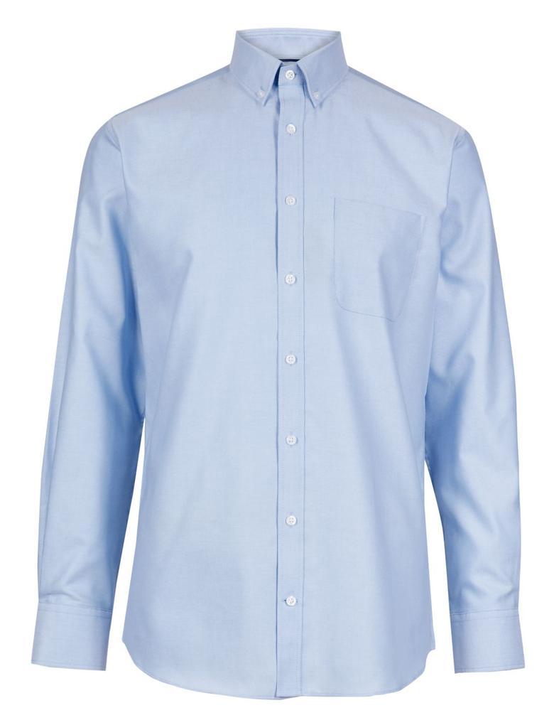 Saf Pamuklu Tailored Oxford Gömlek