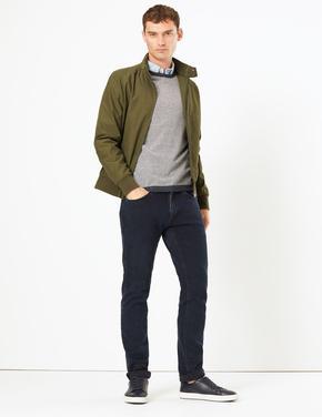 Yeşil Pamuk Karışımlı Ceket