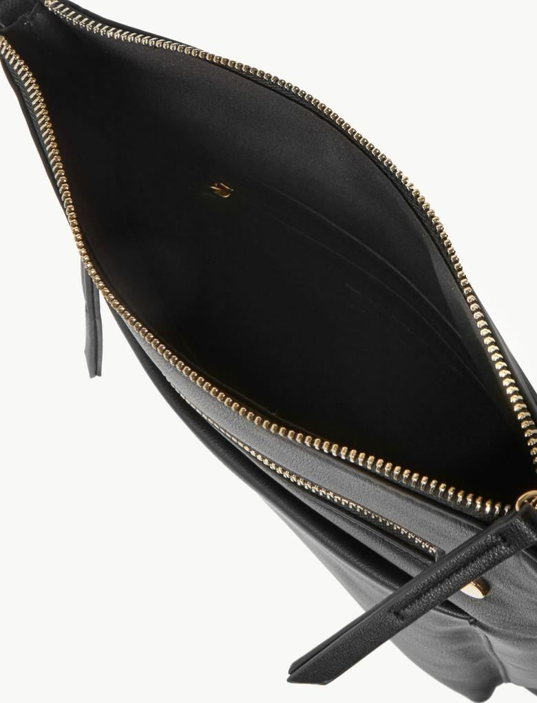 Kadın Siyah Dokuma Askılı Çapraz Çanta