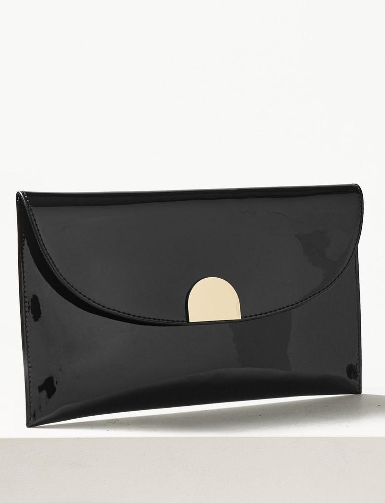 Zincir Askılı Clutch Çanta