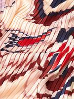 Kadın Pembe Desenli Pileli Fular