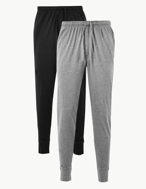 2'li Jarse Uzun Pijama Altı