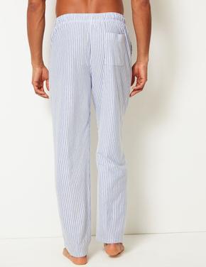 Pamuk Karışımlı Çizgili Pijama Altı